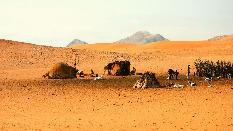 Peuple Himba camp Namibie